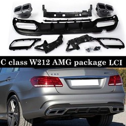 Tylne zderzaki dyfuzor dla Mercedes E klasa W212 LCI