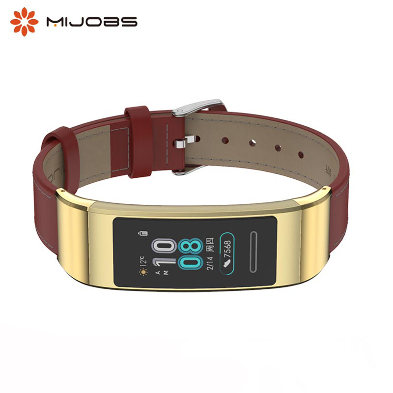 Leather Watch Strap For Huawei 3 Band Smart Watch Bracelet Genuine Leather Watch Band For Huawei 3 Pro Band Pulsera