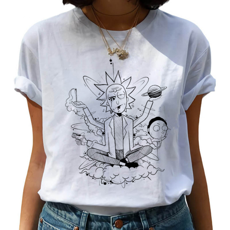 New Rick And Morty Funny Cartoon T Shirt Women Harajuku Ricky N Morty Ullzang T-shirt 90s Graphic Tshirt Fashion Top Tees Female