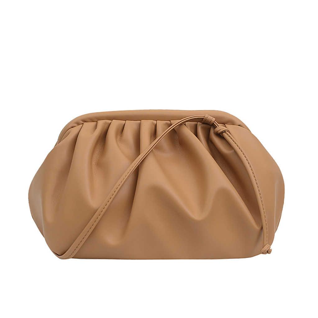 Aelicy 2019 Neue Damen Knödel Paket Einfache Mode-Trend Schulter Tasche Messenger Tasche Geldbörse Große Kapazität Handtaschen 1111
