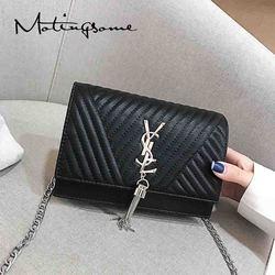 Fashion Women Crossbody Bag with Tassel Luxury Designer Bag Chains Female Brand Handbags and Purse Chains Clutch Red 2021 New
