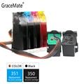 GraceMate 350 351 CISS tinta a granel de repuesto para HP 350 351 D4200 D4260 D4263 D4360 J5730 5780 5785 C4380 4480 de 4580, 4270 impresoras
