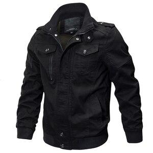 Image 3 - KOSMO MASA Bomber Jacket Men Autumn Winter 2018 Military Mens Jackets And Coats Black Windbreaker Jacket for Men Outwear MJ0074