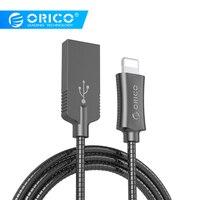 ORICO LTS кабель из цинкового сплава для зарядки iphone и передачи данных Плетеный USB кабель для мобильного телефона