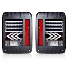 For jeep taillight LED Rear Tail Lights Brake Reverse Turn Signal Pair Lamps for Jeep Wrangler JK 07-17 1 pair right and left led tail lights red runing brake yellow turn signal white for jeep wrangler jk 07 16 eu