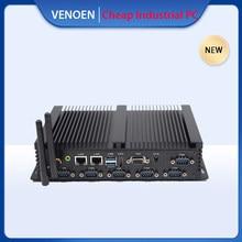 VENOEN Intel Core i5 4200U 4300U mini endüstriyel 4th pc taşınabilir masaüstü bilgisayar LVDS onboard 6 RS232 COM çift ekran 4K