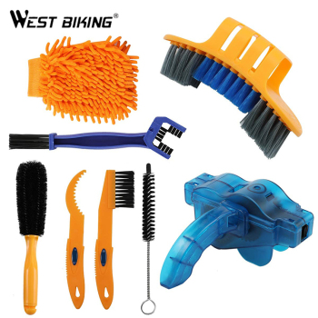 8 sztuk środek do czyszczenia łańcucha rowerowego urządzenie oczyszczające szczotki zestaw do czyszczenia roweru szczotka rowerowa narzędzie do konserwacji dla góry drogi miasta BMX tanie i dobre opinie West Biking CN (pochodzenie) Bike Chain Cleaner Cleaner Bicycle Chains Bicycle Cleaning Brush Brush Tool Chain Scrubber
