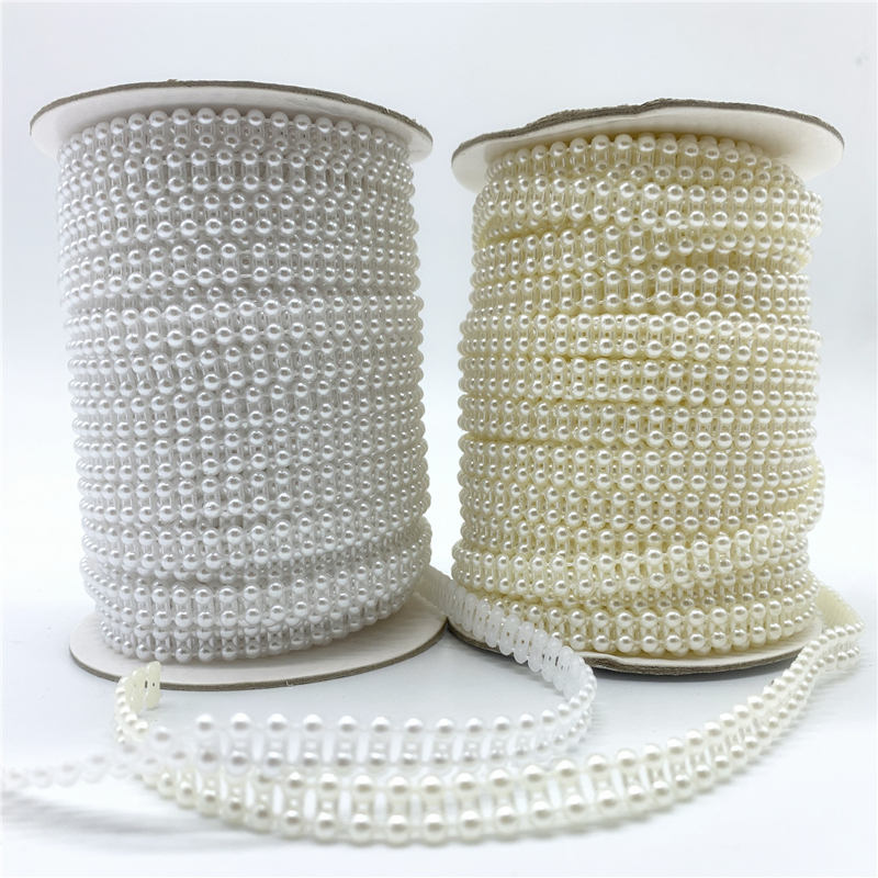 2 ярда 8 мм жемчужные бусины, цепочка, гирлянда, цветы, акриловые бусины для свадебного украшения, DIY аксессуары для ювелирных изделий B0823