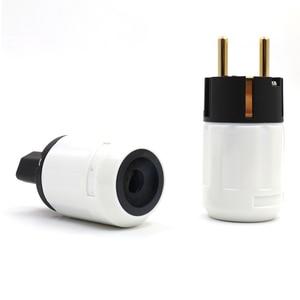 Image 2 - Free shipping 24k Gold Plated SCHUKO standed Power Plug EU version power plug