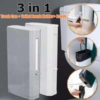 4L Hot Sale Plastic Trash Can Set with Toilet Brush Bathroom Waste Bin Dustbin Trash Cans Garbage Bucket Garbage Bag
