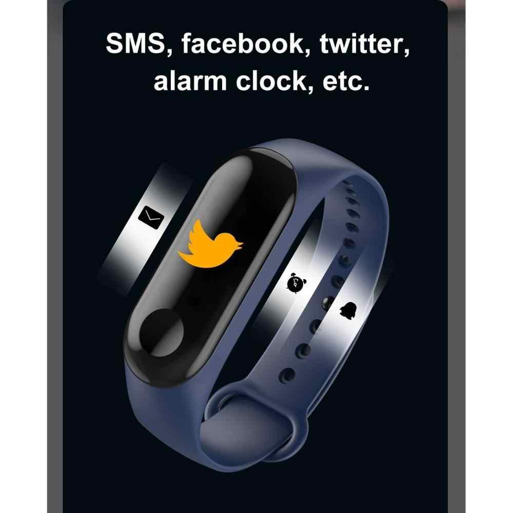 ספורט כושר גשש שעון Smartband IP67 עמיד למים חכם צמיד לחץ דם קצב לב צג חכם להקת צמיד גברים