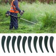 10шт пластиковый газонокосилка лезвие триммер Strimmer для замены Боша часть