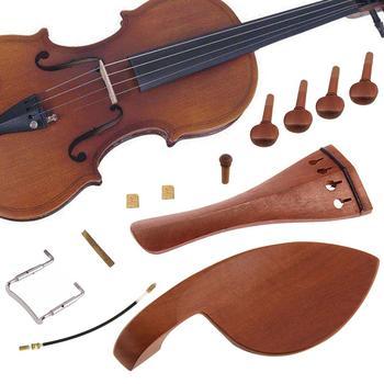 12 sztuk 4 4 skrzypce skrzypce kołki do tuningu Endpin Tailpiece armatura narzędzia lutnicze zestaw skrzypce akcesoria skrzypce kołki tanie i dobre opinie CN (pochodzenie) Skrzypce użytkowania Violin Fittings Kit