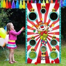 Party-Toys Halloween-Decoration Kids for Children Flag Prop Sandbag Game Pumpkin Throwing