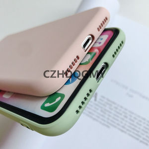 Image 5 - 10 sztuk/partia płynna guma silikonowa miękka pokrywy skrzynka dla iPhone 11 Pro Max 6 6S 7 8 Plus se2 se 2 telefon Coque dla iPhone X XS Max XR