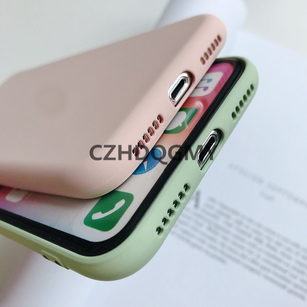 Image 5 - 10pcs/lot Liquid Silicone Rubber Soft Cover Case For iPhone 11 Pro Max 6 6S 7 8 Plus se2 se 2 Phone Coque For iPhone X XS Max XRFitted Cases   -