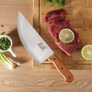 Image 5 - 8 zoll Professionelle Edelstahl Chinesische Messer Fleisch Cleaver Metzger Hacken Messer Küche Koch Messer