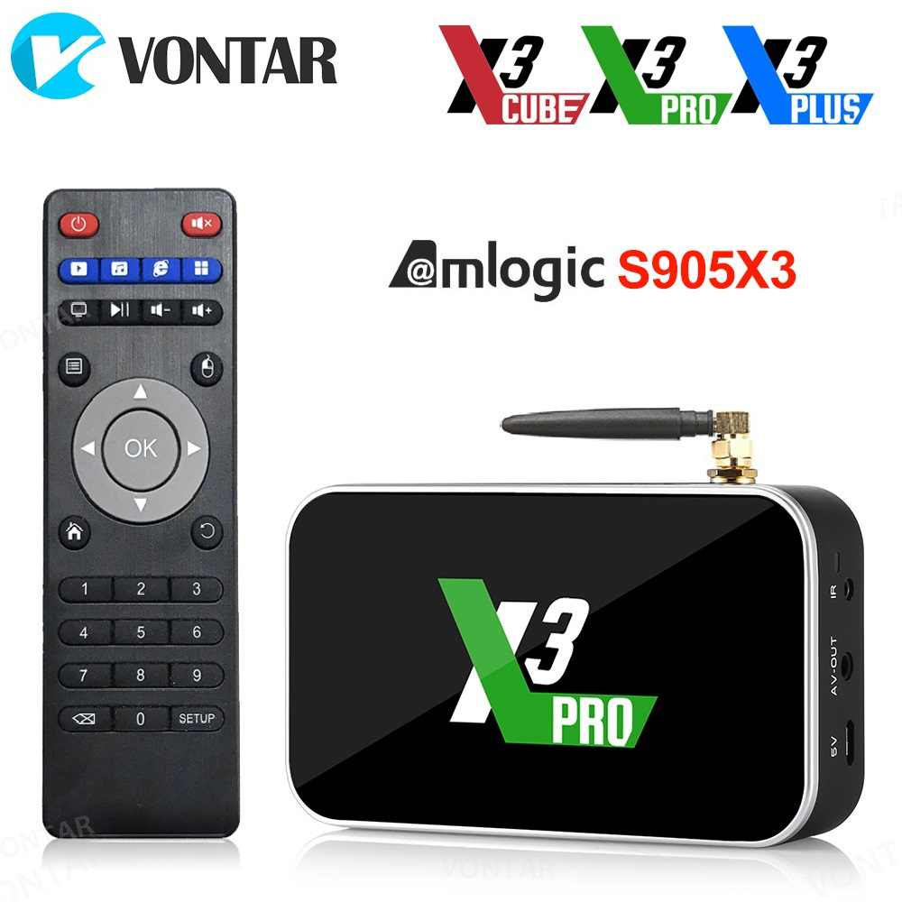 X3 Pro Android 9.0 TV Box Amlogic S905X3 X3 Più DDR4 4GB 32GB 64GB 2.4G/5G WiFi 1000M BT 4.2 4K HD X3 Cubo 2GB 16GB Set Top Box