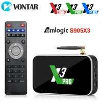 X3 Pro Android 9.0 tv, pudełko Amlogic S905X3 X3 Plus DDR4 4GB 32GB 64GB 2.4G/5G WiFi 1000M BT 4.2 4K HD X3 Cube 2GB 16GB dekoder