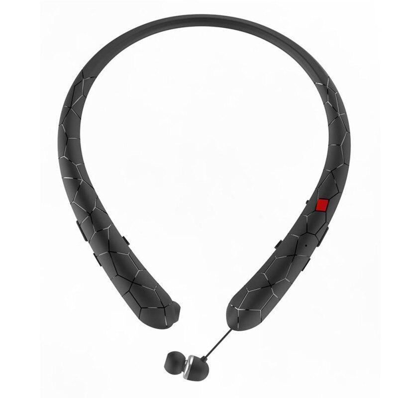 Écouteurs rétractables Bluetooth casque bande de cou Sport casque sans fil stéréo Bluetooth écouteurs avec micro pour iphone xiaomi
