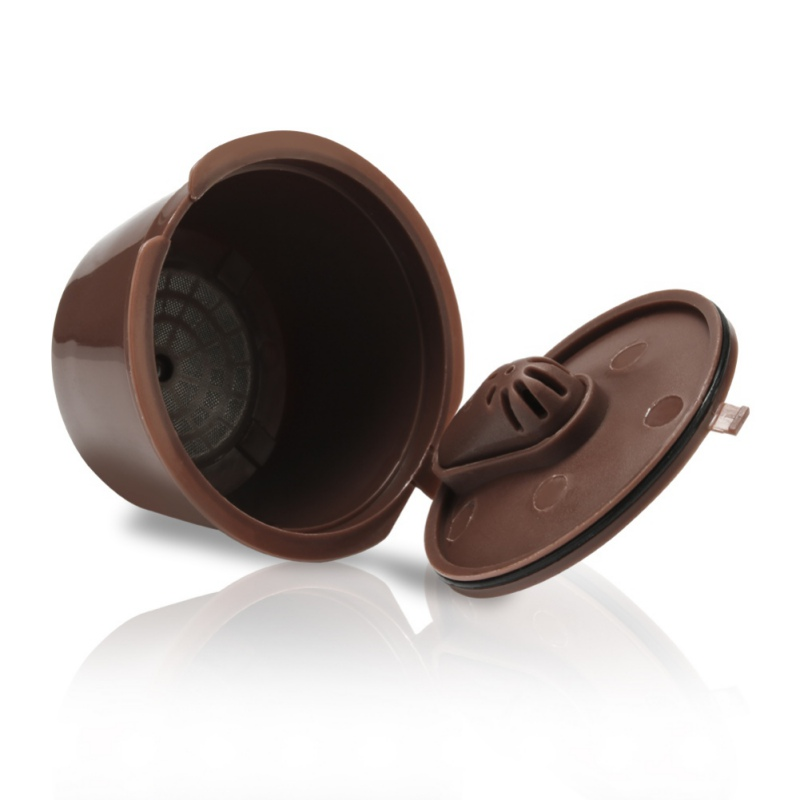 3 Pieces Upgraded Version Refillable Coffee Capsule Reusable Coffee Filter Pods For Dolce Gusto With Scoop And Brush