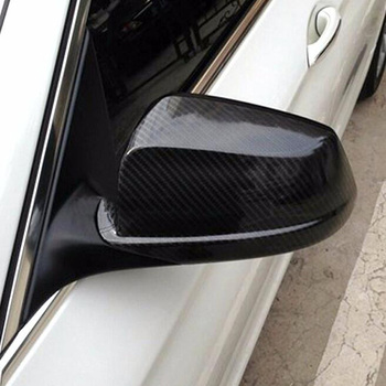 For BMW F10 Carbon Fiber Car Outside Wing Mirror Trim Replace Rearview Mirror Cover 2011 2012 2013