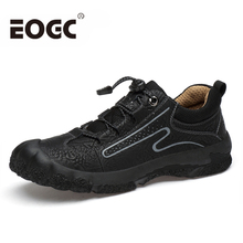 Large Size 38-45 Cow Leather shoes men Handmade Men casual Footwear Winter outdoor walking Genuine leather