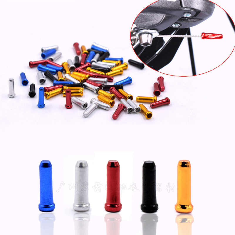 High Quality 100 pcs Brake Wire End Cap Cable Parts Bike Line Core Cap Cover Gear Shift Brake Bicycle Cables Parts Accessories