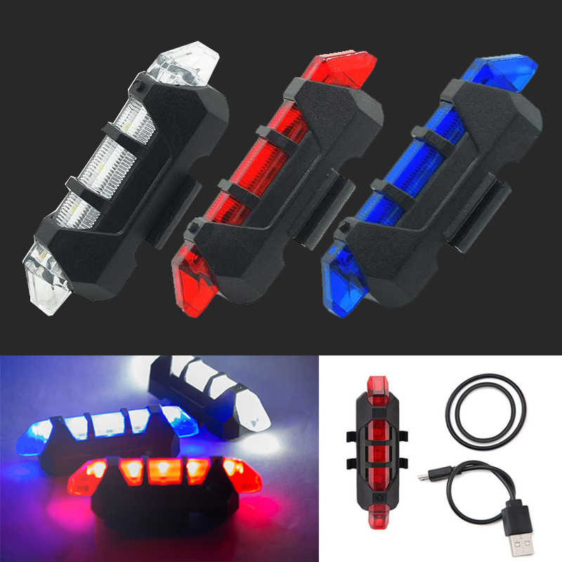 WasaFire Portable USB Rechargeable Bike Bicycle Tail Rear Safety Warning Light Taillight Lamp Super Bright Led luz bicicleta