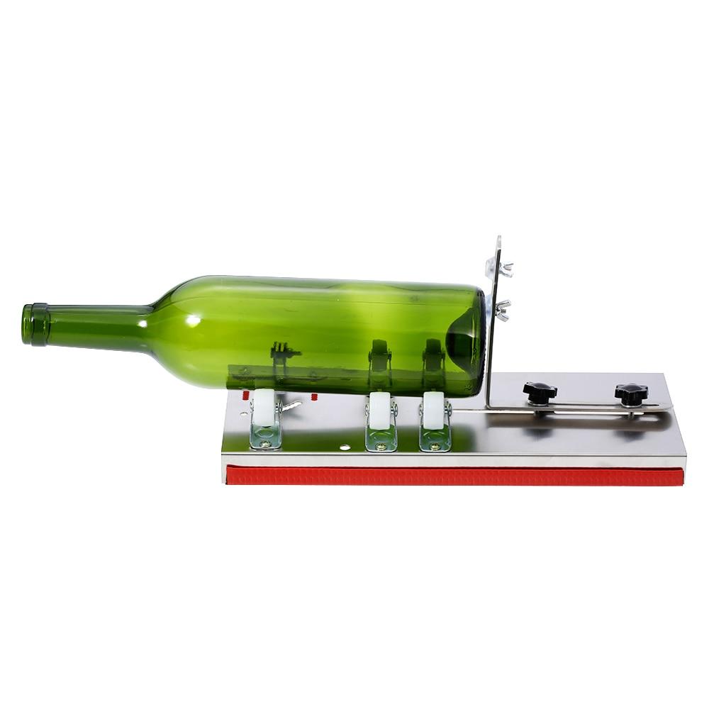 Thickness 3mm 5-Wheel Glass Bottle Cutter Cutting Stainless Steel Better Cutting Control Create Glass Sculptures