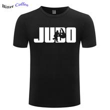 Mężczyźni modny Top koszulki bawełniane Judo Jodoka młodzieży okrągły kołnierz koszulki z krótkim rękawem wysokiej jakości męskie koszulki drukuje Plus rozmiar tanie tanio BITTER COFFEE O-neck REGULAR Czesankowej COTTON Na co dzień Fashion Print
