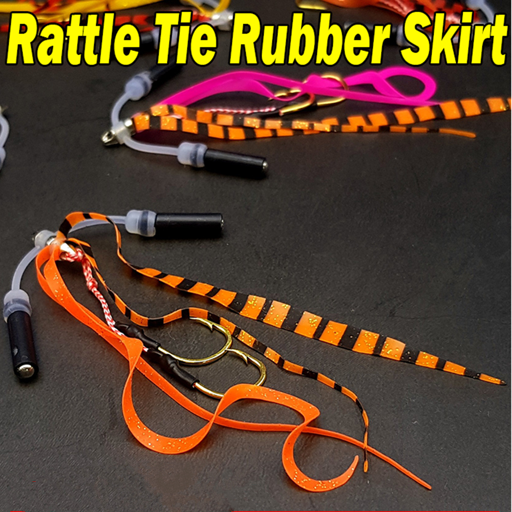 Fishing Skirt Collars Band for Spinner Baits Buzz Baits Silicon Band 50pcs