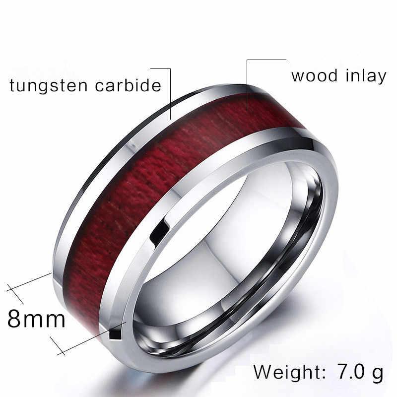 MD 2019 คู่แฟชั่นโกธิคเหล็กทังสเตนแหวนผู้ชายสแตนเลสสตีลหัวใจคริสตัล Semi-precious Stone หมั้นแหวน