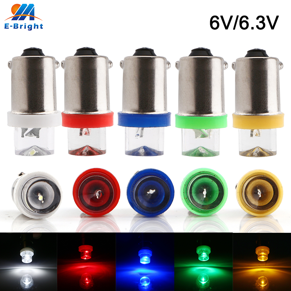 20pcs 6V 6.3V BA9S V LED Light Bulb T4W T11 Pinball Battery Game White Blue Red Amber Green Auto Indicator Bulbs image