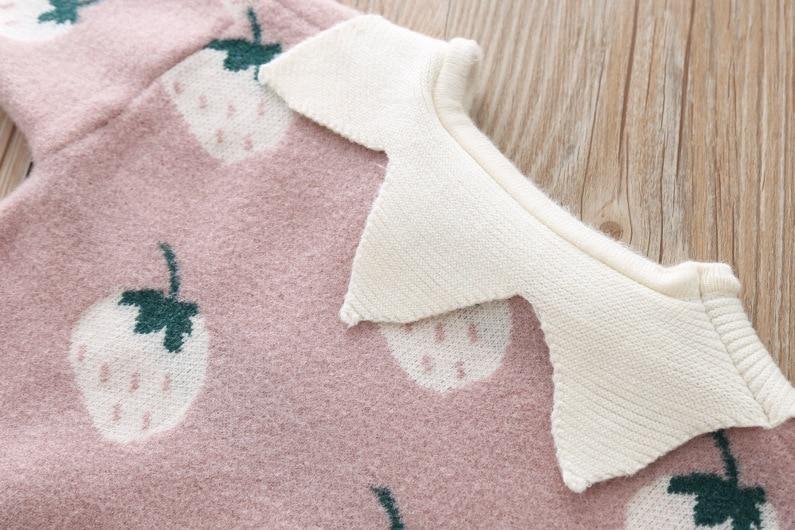 Camisola de malha roupas terno Para Meninas