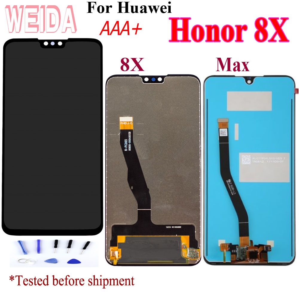 WEIDA For <font><b>Huawei</b></font> <font><b>Honor</b></font> <font><b>8X</b></font> LCD Display Touch Screen Digitizer <font><b>Honor</b></font> <font><b>8X</b></font> For <font><b>Huawei</b></font> <font><b>8X</b></font> Max LCD 8Xmax Screen Replacement Parts+Tools image