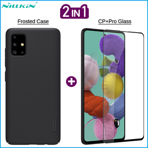 Image 1 - Nillkin 2 in 1 Phone Frosted Case + Screen Protector for Samsung Galaxy A01 A11 A41 A51 A71 Full Covered Tempered Glass Film