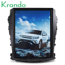 "Krando Android 9.0 10.4 ""Tesla Vertikal Layar Mobil GPS Radio Navigasi untuk Changan Cs75 Hiburan Radio Player Bluetooth(China)"