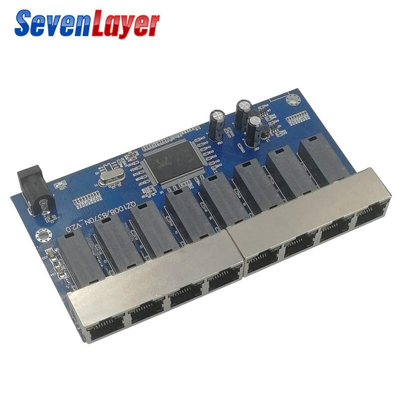 8 Port Gigabit Switch Desktop RJ45 Ethernet Switch 10/100/1000mbps Lan Hub Switch 8 Portas PCBA