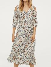 Autumn Chiffon Dress Women Printing Flower Casual Strapless Shoulder A-line French With Bow