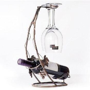 New 2017 Wine Holders Wine Rack Bottle Rack Wine Glass Rack(Bronze)