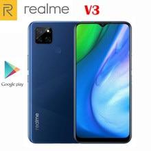 Oficjalny oryginalny nowy telefon komórkowy Realme V3 5G MTK720 Octa Core 6.5 calowy aparat 13.0MP 5000mAh 18W szybkie ładowanie Android 10 OS