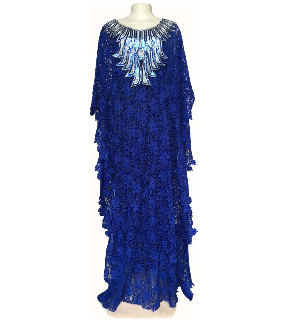 African Dresses for Women Dashiki Lace African Clothes Bazin Broder Riche Sexy Embroidery Sequins Robe Evening Long Dress 2020 05
