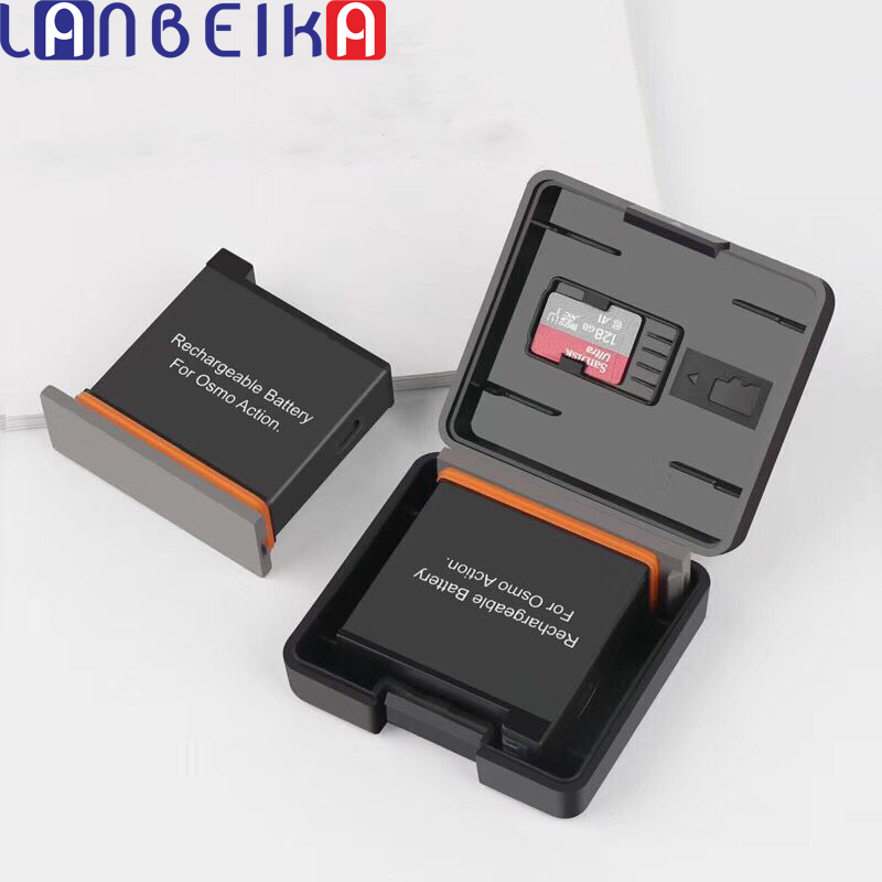 LANBEIKA 2pcs/Lot Battery Protective Storage Box Case With TF Card Holder for GoPro Hero 9 8 7 6 5 4 DJI OSMO SJCAM SJ9 SJ8 YI