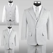 New Spring Boy Formal Suits Dinner Tuxedos Little Boy Groomsmen Kids Children For Wedding Party Prom Suit Formal Wear 3 pcs