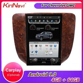 Автомагнитола KiriNavi, 12,1 дюйма, Android 9,0, для Chevrolet Silverado 3A GMC Sierra Yukon, автомобильный Dvd плеер, стерео, GPS