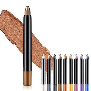 Women Waterproof Highlighter Eyeshadow Pencil Cosmetic Glitter Eye Shadow Eyeliner Pen Eyebrow Color Pencil Easy To Wear