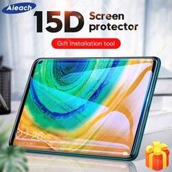 Изогнутая Защитная стеклянная пленка 15D для Huawei MatePad Pro 5G 10,8, Защита экрана для Huawei MatePad 10,4, T8 8,0, закаленное стекло
