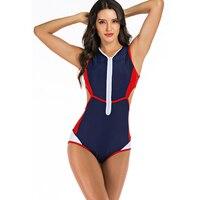 2019 Sexy One Piece Swimwear Woman Rash guard Surfing swimsuits for women Thong Monokini Female Bathing Suit Swimwear one piec