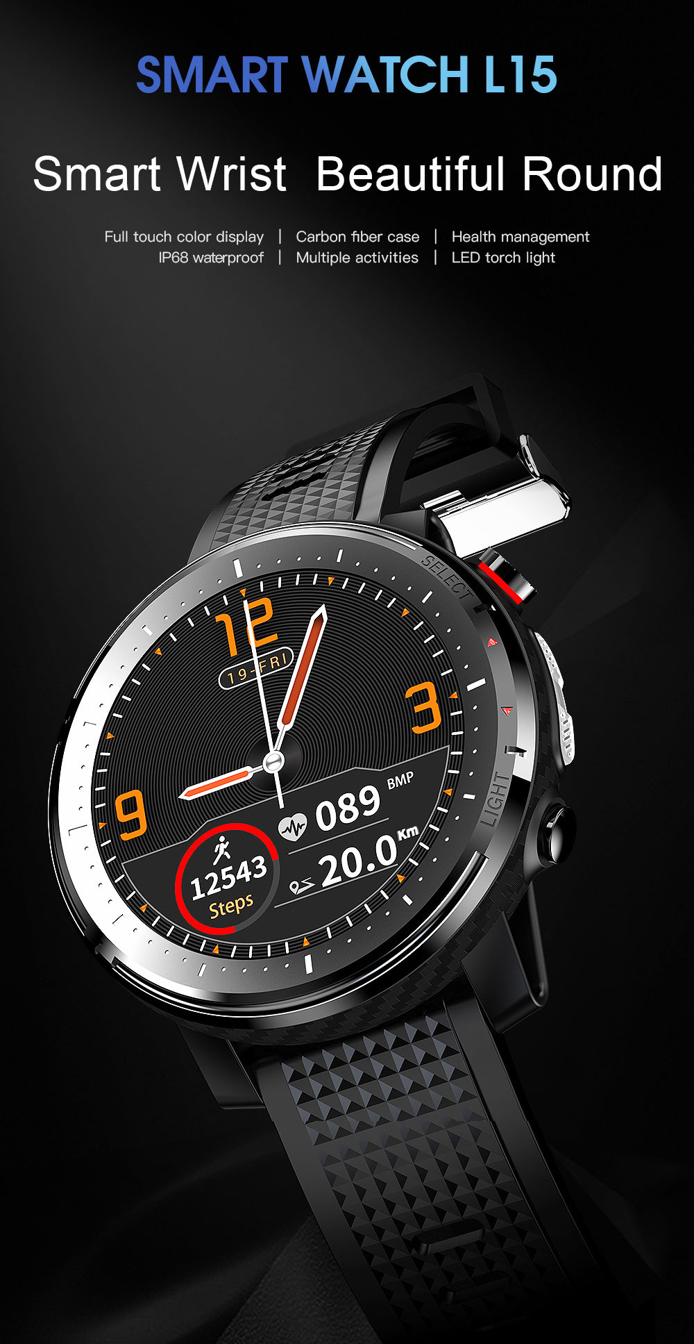 Timewolf inteligente whatch android reloj inteligente hombre